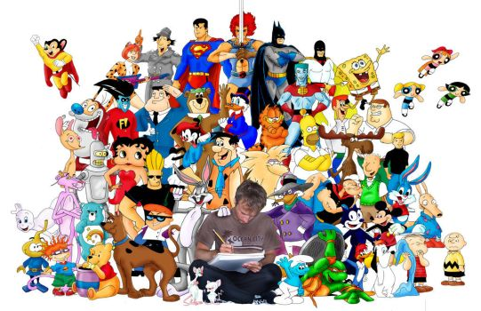 Group Of 6 Cartoon Characters : Who s better tv cartoon characters quickquiz